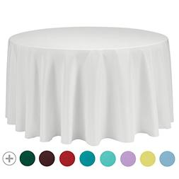 VEEYOO Tablecloth 108 inch Round Solid Polyester for Restaur