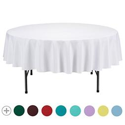 VEEYOO Tablecloth 70 inch Round Solid Polyester Table Cover