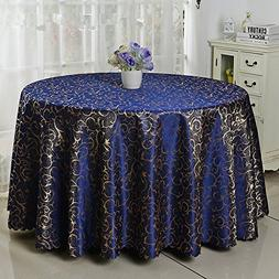 Eforcurtain Large Size 120 Inch Round Tablecloth Jacquard Fa