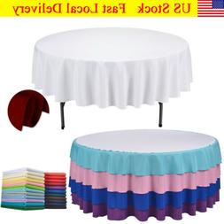 Round Tablecloth Linen Table Cover for Weddings Party US