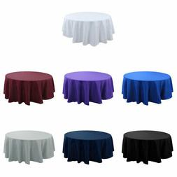 Round Tablecloth Polyester Table Cover Wedding Party Banquet