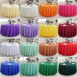 Round Tablecloth Table Cover Kitchen Dinning Wedding Party H