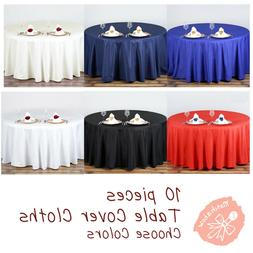 Round Tablecloth Table Cover Party Wedding Linen Colors Choo