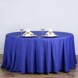 ROYAL BLUE 120 Inch ROUND TABLECLOTH Wedding Decorations Par