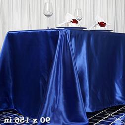royal rectangle satin tablecloth