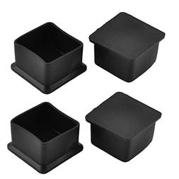 uxcell Rubber Square Shaped Furniture Table Desk Foot End Ca