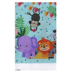Safari animals tablecloth disposable table cover for kids bi