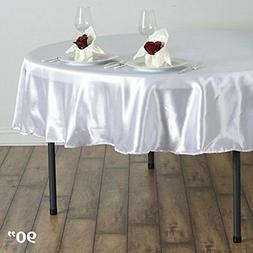 satin round tablecloths wedding table