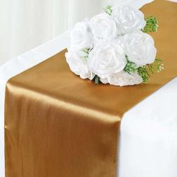 "Efavormart 5PCS of 12"" x 108"" SATIN Runner For Table Top Wed"