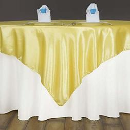 satin square tablecloth overlay