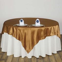 "Efavormart 90"" SATIN Square Tablecloth Overlay For Wedding C"