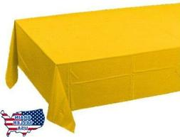"School Bus Yellow Tissue/Poly Tablecover 54"" x 108"" Solid 24"