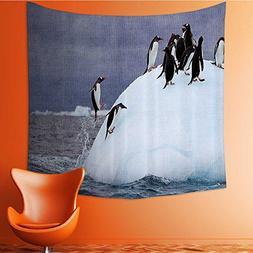 Nalahomeqq Sea Animals Decor Collection Gentoo Penguin on Ic