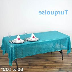 sequin rectangular tablecloth