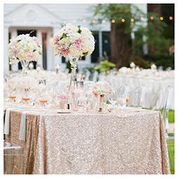 ShinyBeauty Sequin Tablecloth 60x102-Inch Rectangular Table