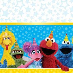 "Amscan Sesame Street Plastic Table Cover, 54"" x 96"""