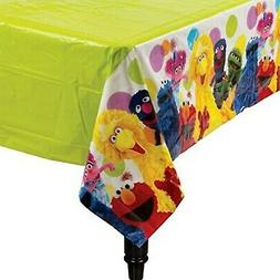 Amscan Sesame Street Plastic Table Cover, Multicolor