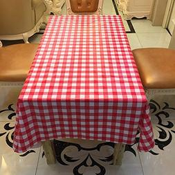 HUELE 10pcs/set Disposable Waterproof Plaid tablecloth One-t