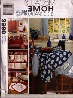 Sewing Pattern McCalls 3560 Home - Apron, Table Covers PotHo