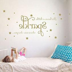 She Leaves a Little Sparkle Girls Room Vinyl Wall Decal Stic