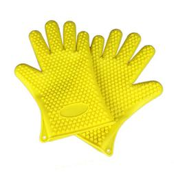 Sinide Silicone BBQ Gloves/Cooking Gloves - Heat Resistant O