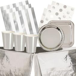 Silver Foil Party Supplies Tableware