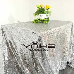 ShiDianYi Silver Sequin Tablecloth, Silverwedding Tablecloth