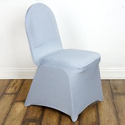 BalsaCircle 10 pcs Silver Spandex Strechable Banquet Chair C