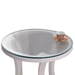 Soft Glass Table Cover Round Clear Table Top Protector PVC T