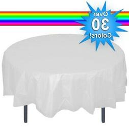Solid Color Party Supply Table Cloth Plastic Table Cover 54""