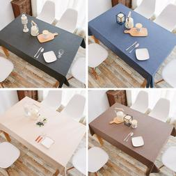 Solid Color Tablecloth Table Cover Decoration Heatproof Anti