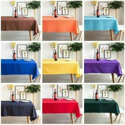 Solid Polyester Table Cloth Banquet Wedding Party Table Cove