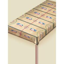 """""""Spalding Basketball Collection"""" Printed Plastic Table Cover"""