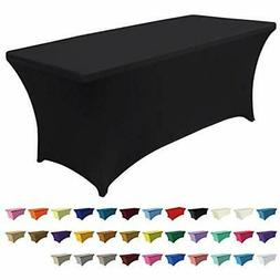 Spandex Table Cover 6 Ft. Fitted 30+ Colors Polyester Tablec