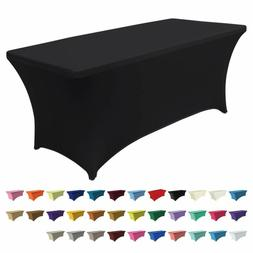 Spandex Table Cover Fitted 30+ Colors Polyester Tablecloth S