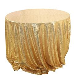 uxcell Sparkle Sequin Round Tablecloth, BlingTable Cloth Cov