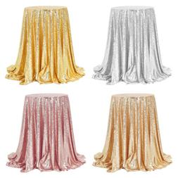 Sparkle Round Sequin Tablecloth Table Cover Wedding Party Ba