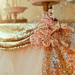 Sparkly Sequin Tablecloth Rectangle Wedding Table Cover Clot