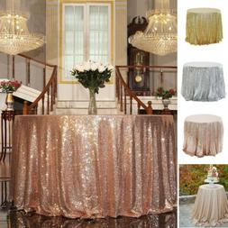 Sequin Glitter Tablecloth Shiny Sparkly Table Cover Wedding