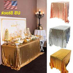 Sparkly Sequin Tablecloth Table Cover Dining Banquet Wedding