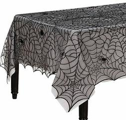 Spider Web Lace Fabric Tablecloth Table Cover Reusable Hallo