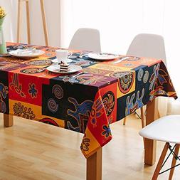 Bringsine Square Cotton Linen Fashion Mayan Culture Printed