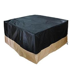 Stanbroil Square Fire Pit /Table Cover, Black, 40-Inch