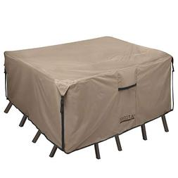 ULTCOVER Square/Round Patio Heavy Duty Table Cover 600D Toug