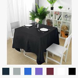 Square Tablecloth Polyester Table Cover Wedding Party Banque