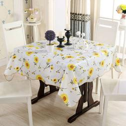 Square Tablecloth Waterproof Dustproof Table Cover Outdoor P