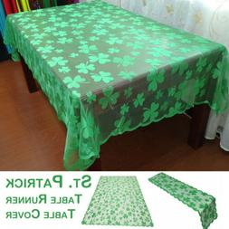 St Patrick's Day Tablecloth Green Shamrock Tablecloth Table