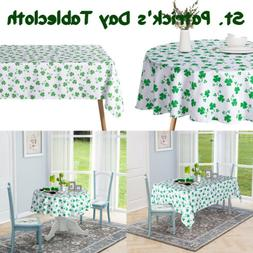 St. Patrick's Day Tablecloth Table Cover Shamrock Party Deco