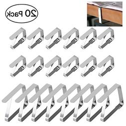 OUNONA Stainless Steel Table Cloth Clip Table Cover Clamps,