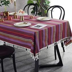 Bringsine Stitching Tassel Tablecloth Heavy Weight Cotton Li